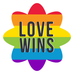 Love wins rainbow lgbt sticker
