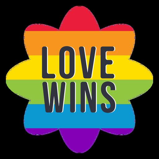 El amor gana el arco iris lgbt pegatina Transparent PNG