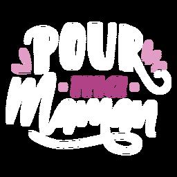 Pegatina de texto francés ma