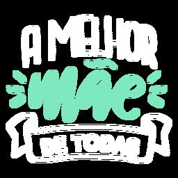 Etiqueta engomada del texto portugués mae