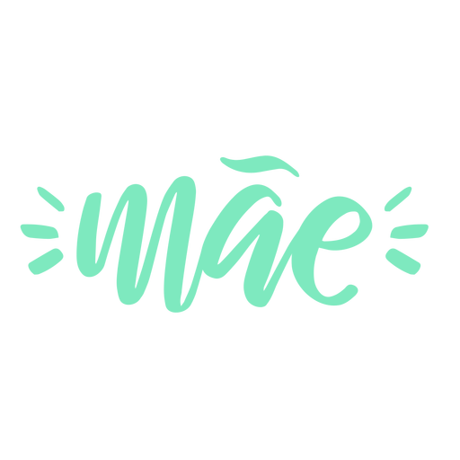 Mae portugiesischer Textaufkleber Transparent PNG