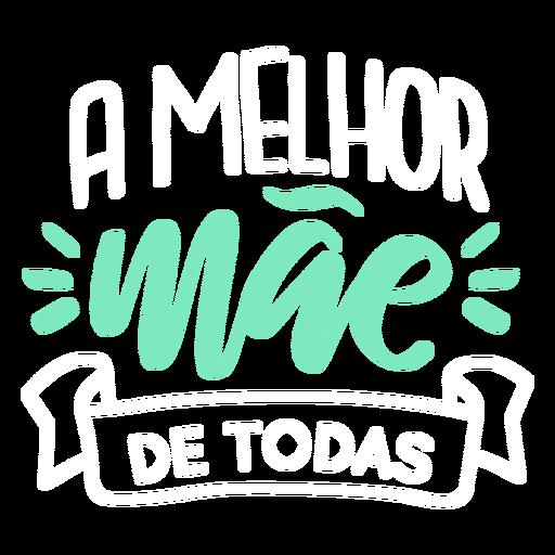 Mae texto en portugu?s pegatina