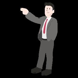 Hombre chaqueta corbata pantalon zapatos peinado plano