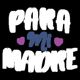 MI spanischer Herztextaufkleber