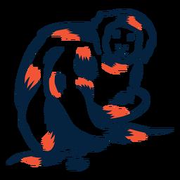 Mono comiendo duotono