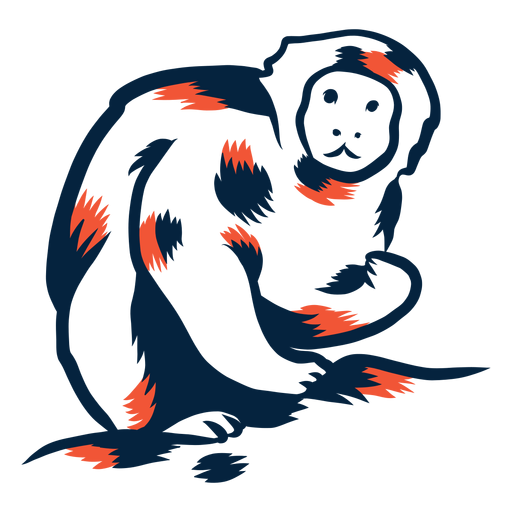 Monkey eating duotone Transparent PNG