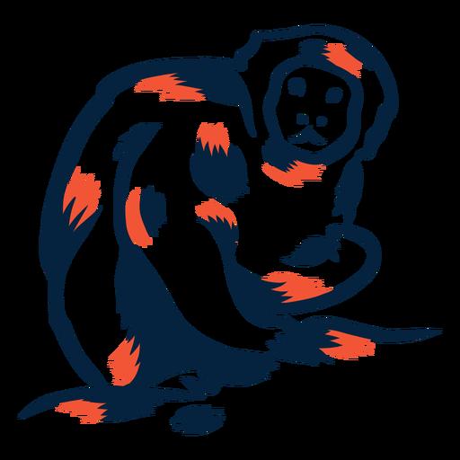 Mono comiendo duotono Transparent PNG