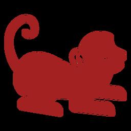 Silhueta de astrologia chinesa de cauda de macaco