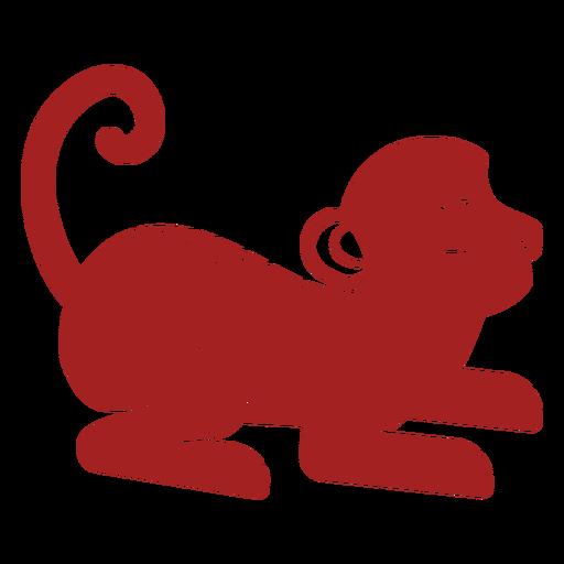 Cola de mono silueta de astrología china