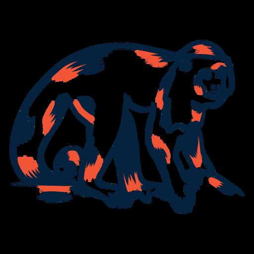 Macaco andando duotônico Transparent PNG