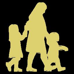 Muttertochterschwangerschaftsohnkinderschattenbild