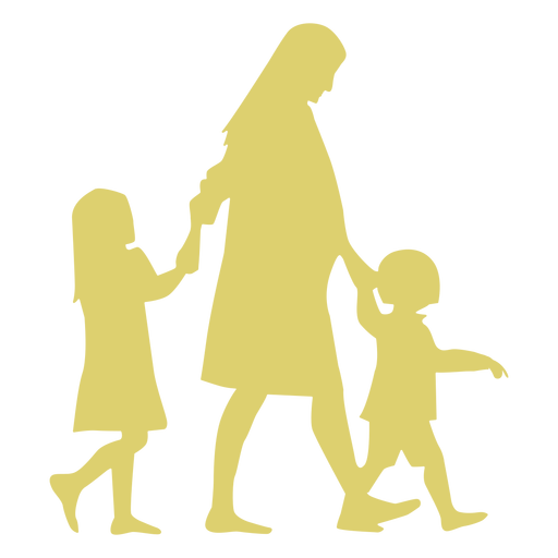 Mother daughter pregnancy son child kid silhouette Transparent PNG