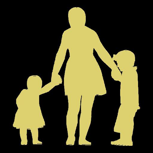 Mãe filha filho criança criança silhueta Transparent PNG