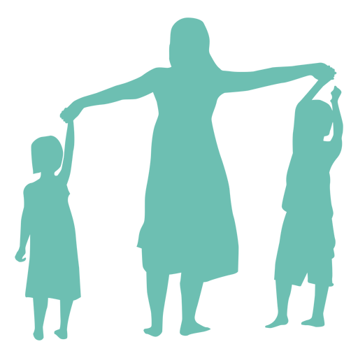 Mother daughter son child kid silhouette woman Transparent PNG