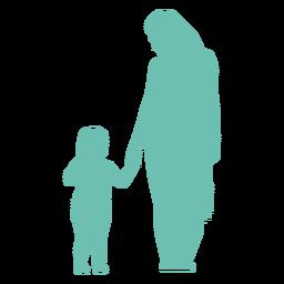 Mãe criança criança silhueta