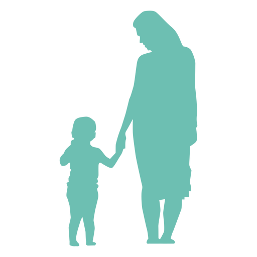 Mother kid child silhouette Transparent PNG
