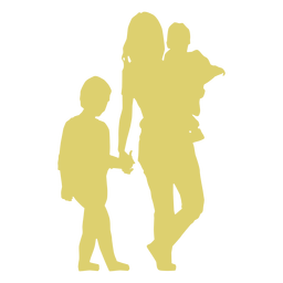 Madre niño hija hijo niño silueta