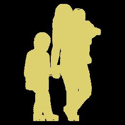 Mãe criança filha filho filho silhueta