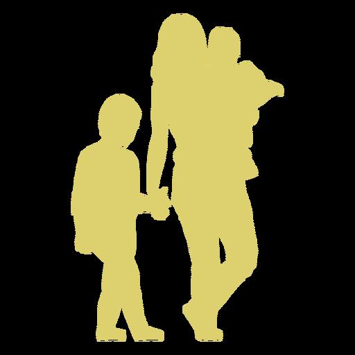 Mutter Kind Tochter Sohn Kind Silhouette Transparent PNG