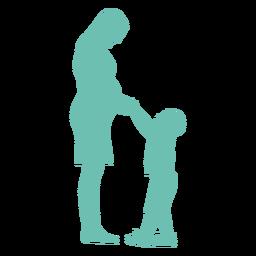 Mãe, gravidez, filho, criança, criança, silueta