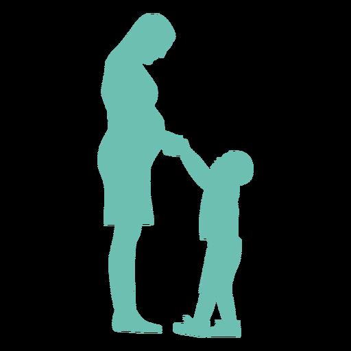 Mutter Schwangerschaftssohn Kind Kind Silhouette Transparent PNG