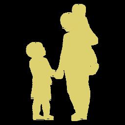 Mutter Sohn Tochter Kind Kind Silhouette