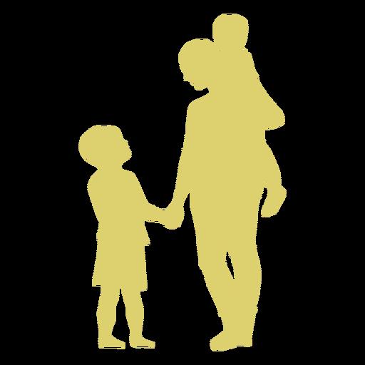 Mutter Sohn Tochter Kind Kind Silhouette Transparent PNG
