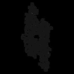 Redemoinho de símbolo musical natural