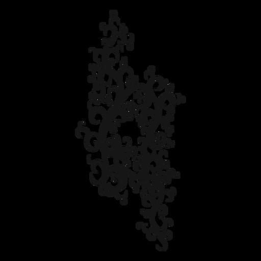 Natural musical symbol swirl