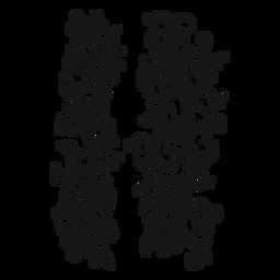 Wirbel des musikalischen Symbols des neutralen Notenschlüssels