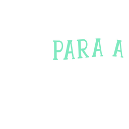 Para una pegatina de texto en portugués