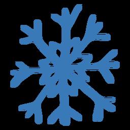 Pegatina de copo de nieve de cristal patrón
