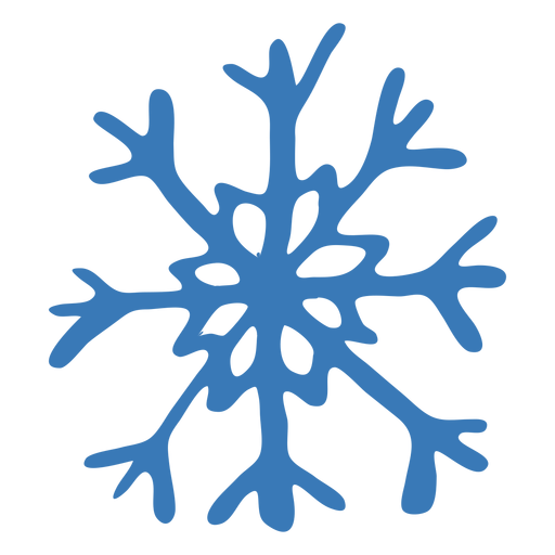 Pattern crystal snowflake sticker Transparent PNG