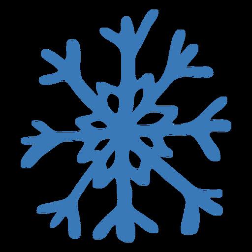 Pegatina de copo de nieve de cristal patrón Transparent PNG