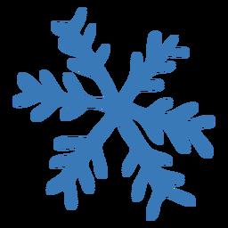 Pegatina de cristal de copo de nieve patrón