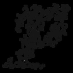 Piano musical symbol swirl