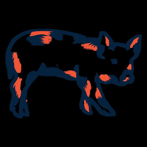 Schwein Seitenansicht Duotone Transparent PNG