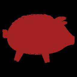 Cerdo hocico chino astrología silueta