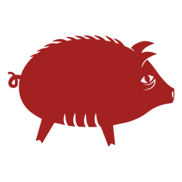 Pig snout chinese astrology silhouette
