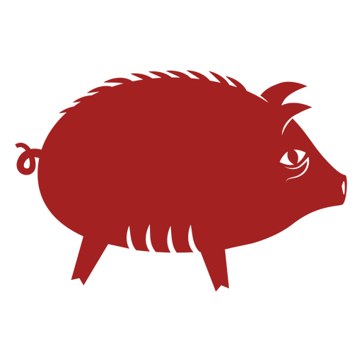 Pig snout chinese astrology silhouette Transparent PNG