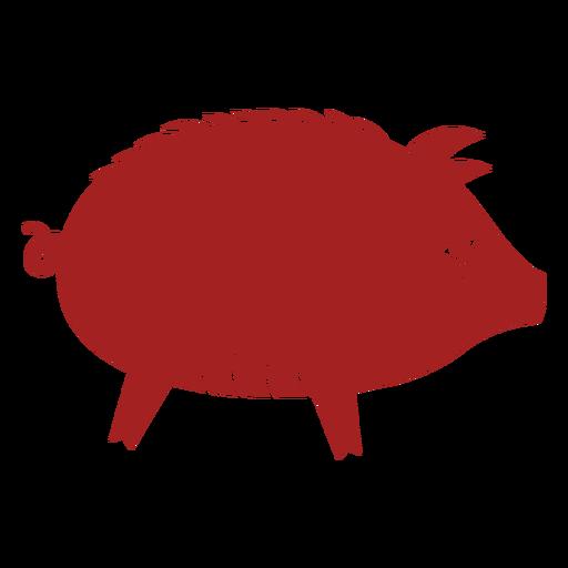 Silueta de astrología china de hocico de cerdo