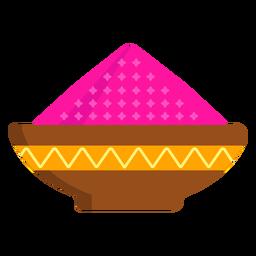 Prato tigela padrão mingau de pó em pó