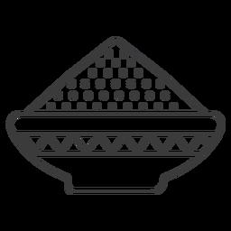 Prato tigela padrão mingau em pó derrame