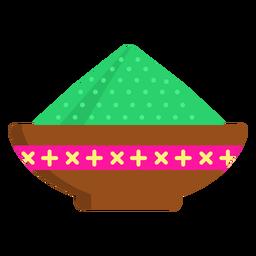 Prato tigela mingau padrão pó liso
