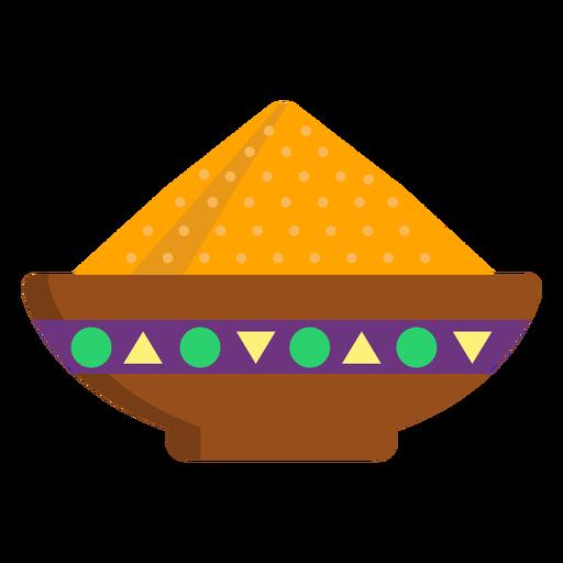 Prato tigela de mingau de cereal em pó plana Transparent PNG