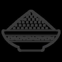 Tigela de placa em pó padrão mingau