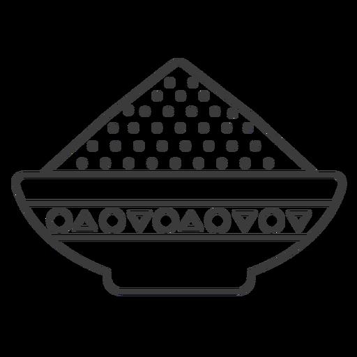 Tigela de placa em pó padrão mingau Transparent PNG