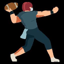 Jugador pelota casco futbol traje plano
