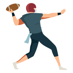 Player ball helmet football outfit flat