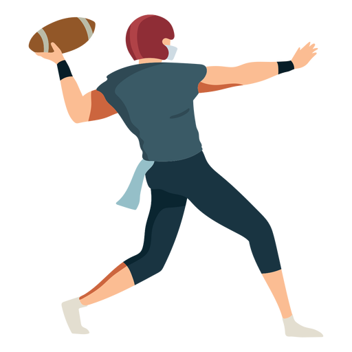 Jugador pelota casco futbol traje plano Transparent PNG